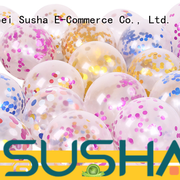 Susha confetti balloons China factory for wedding