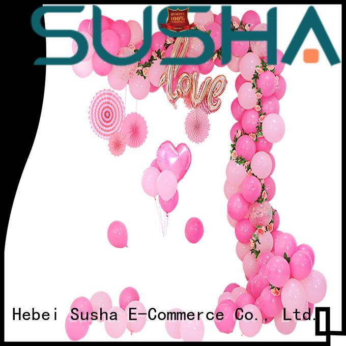Susha electric balloon accessories customization for wedding