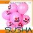 heart-shaped latex balloons manufacturer for wedding