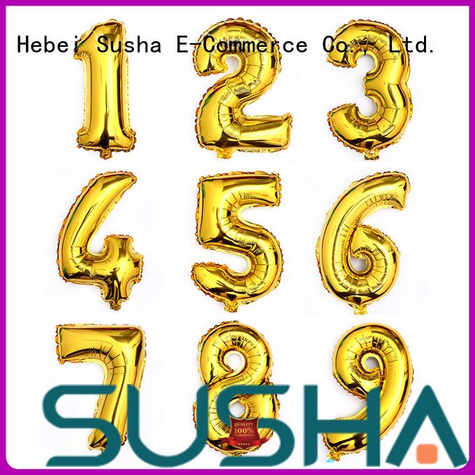 Susha aluminum foil balloons wholesale for birthday