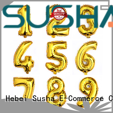heart foil number balloons manufacturer for anniversaries