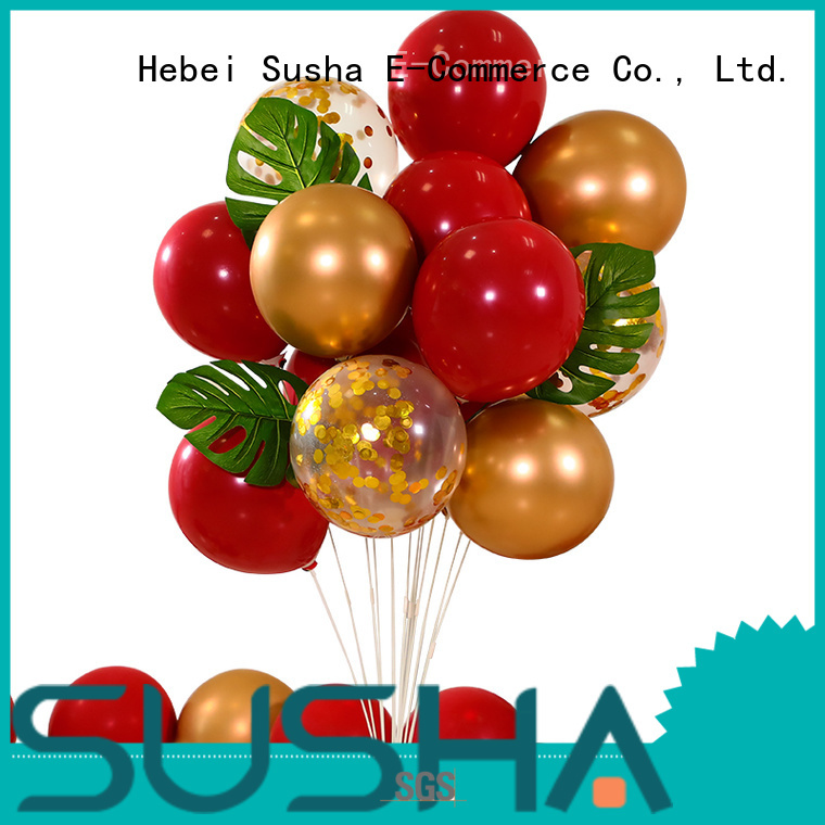 Susha transparent latex balloons manufacturer for celebration activities