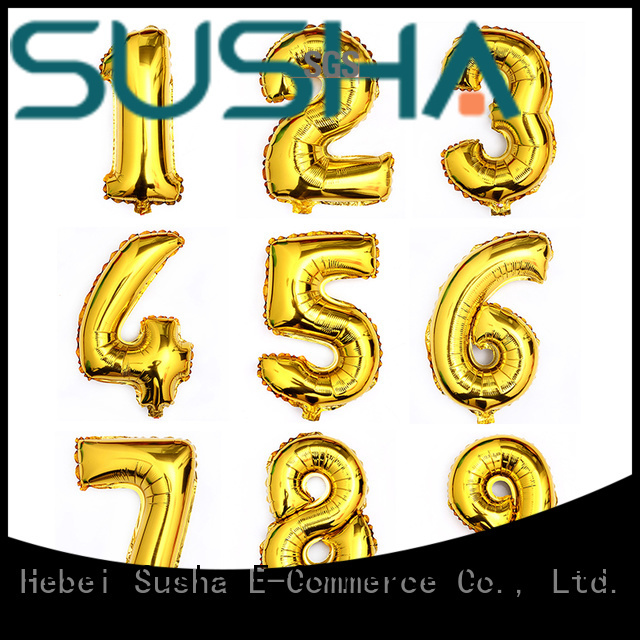 18 inches foil number balloons wholesale for anniversaries