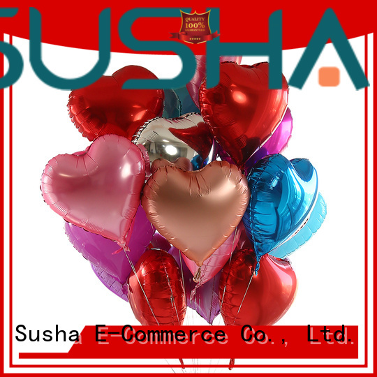Susha 18 inches foil heart balloons wholesale for proposal