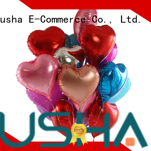 Susha heart foil heart balloons manufacturer for anniversaries