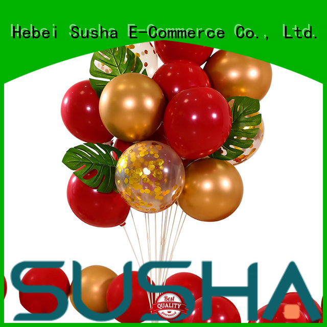 Susha romantic confetti balloons manufacturer for birthday parties