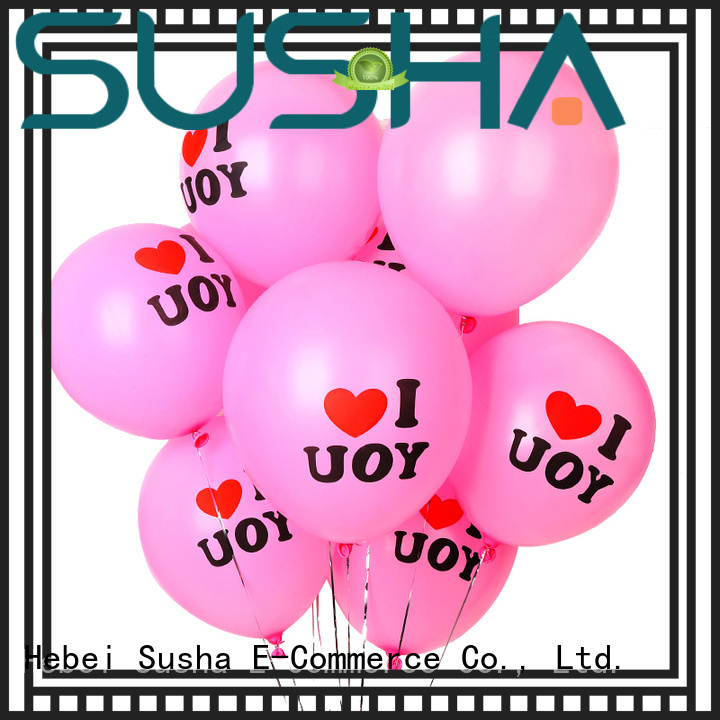 Susha transparent confetti balloons China factory for celebration activities