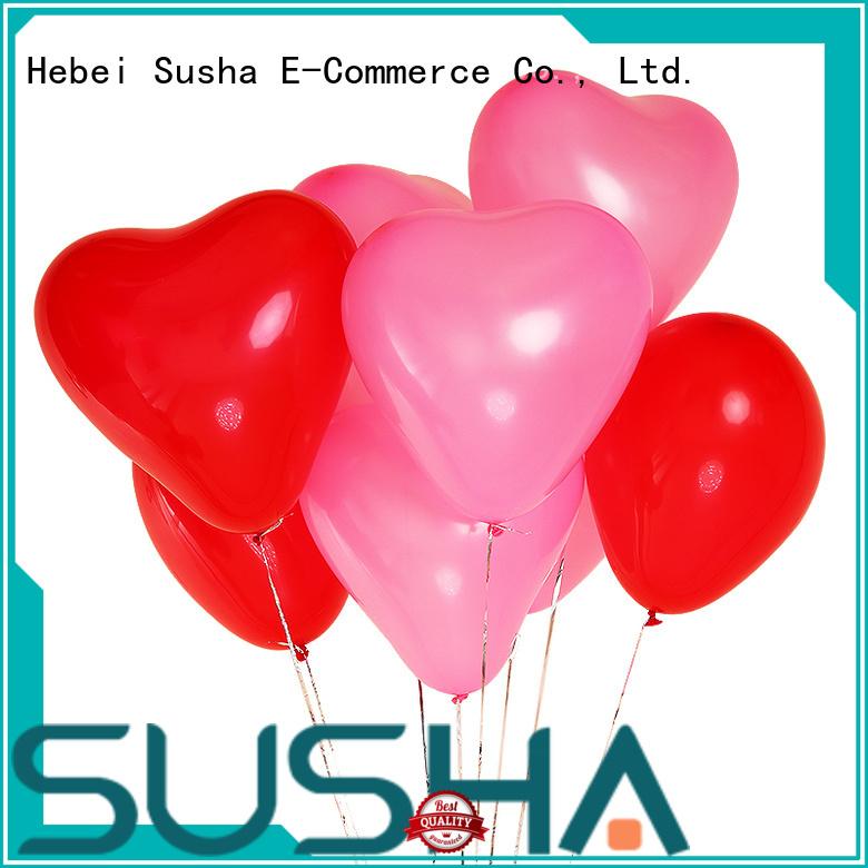 Susha romantic latex balloons China factory for birthday parties