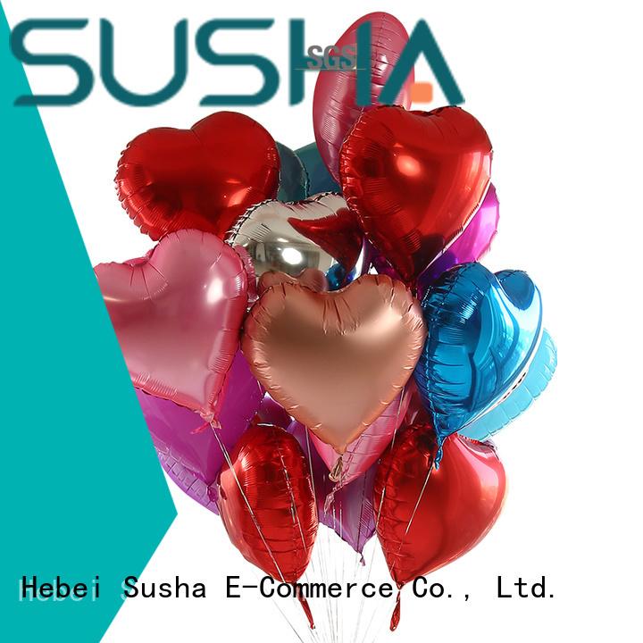 Susha foil number balloons manufacturer for wedding
