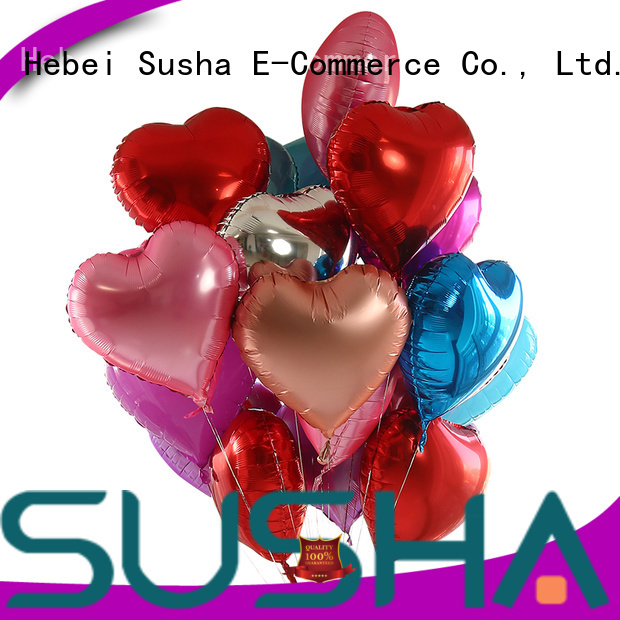 Susha foil heart balloons wholesale for birthday