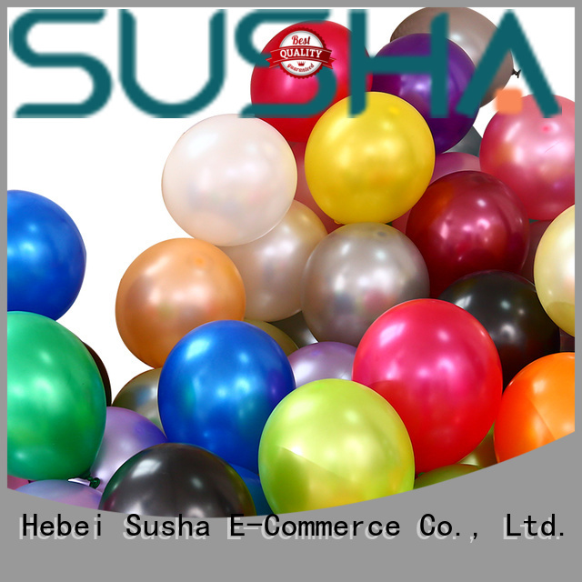 Susha party balloons China factory for celebration activities