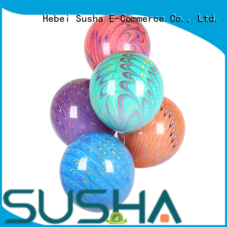 Susha latex balloons China factory for celebration activities