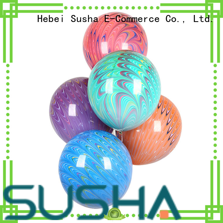 Susha peacock confetti balloons China factory for celebration activities