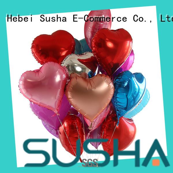 Susha clover foil heart balloons online for birthday
