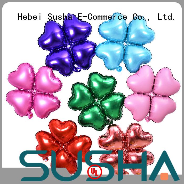Susha aluminum foil balloons wholesale for anniversaries