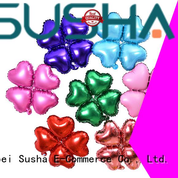 clover foil heart balloons manufacturer for birthday